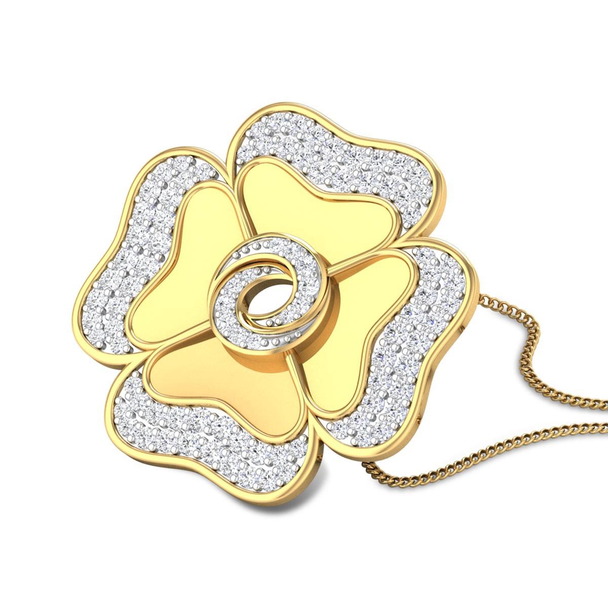 Cloverleaf Diamond Pendant