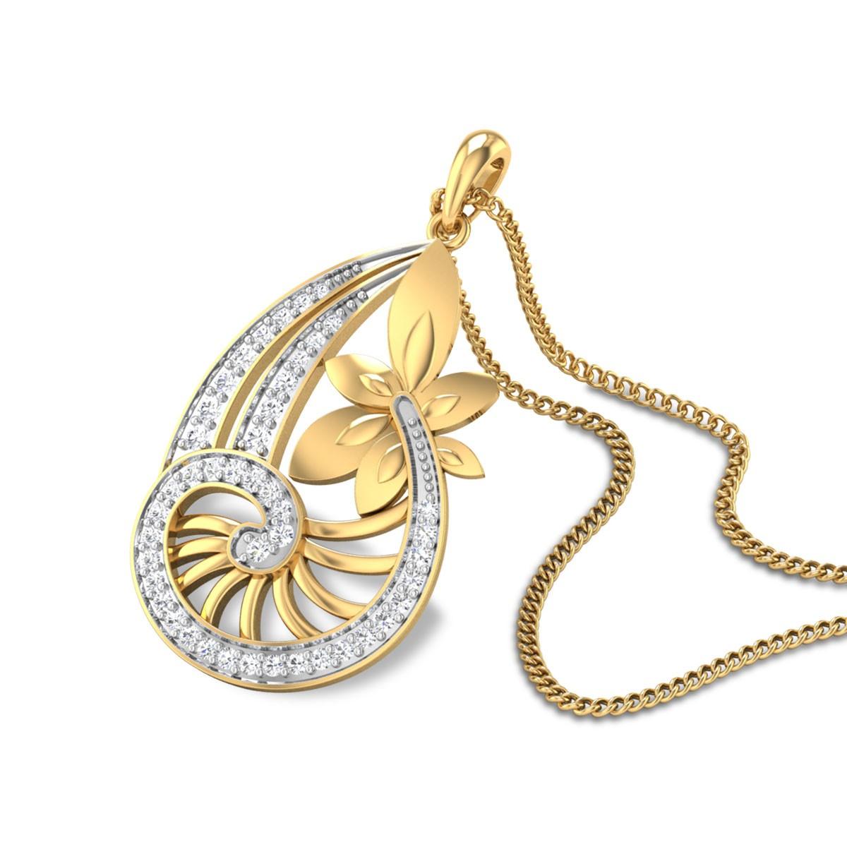 Dieter Floral Diamond Pendant