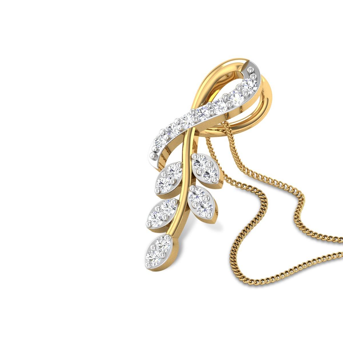 Tyrese Leafy Diamond Pendant
