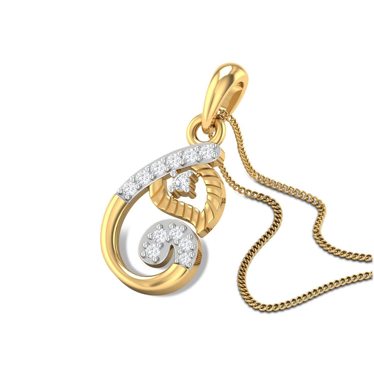 Trystan Ganpati Diamond Pendant