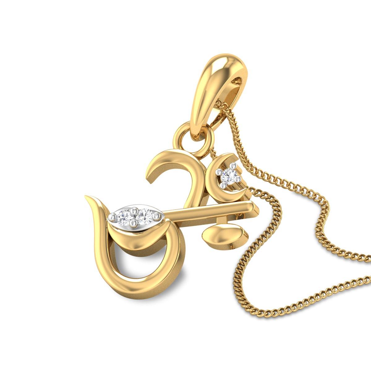 Veena Om Diamond Pendant