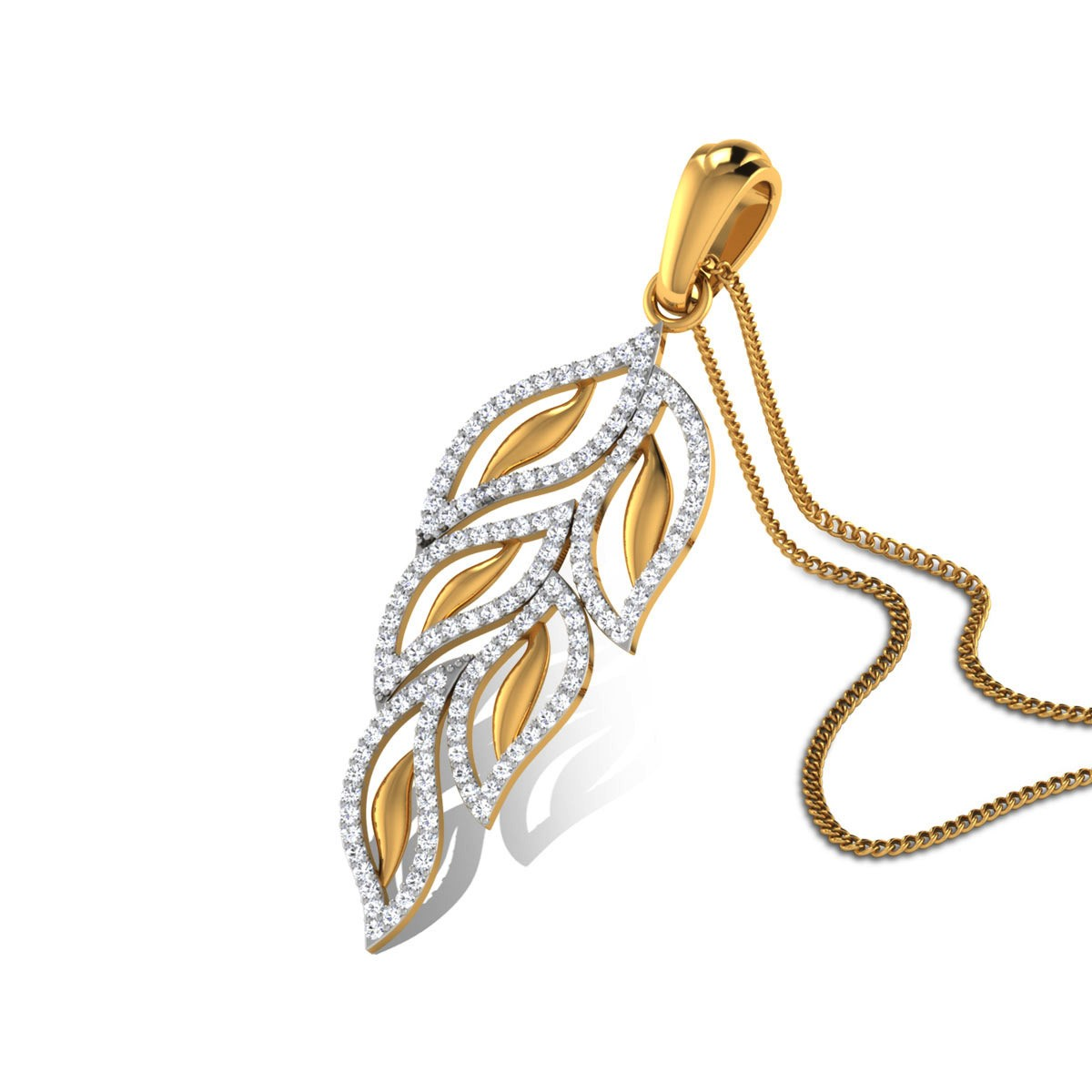 Aaush Diamond Leafy Pendant