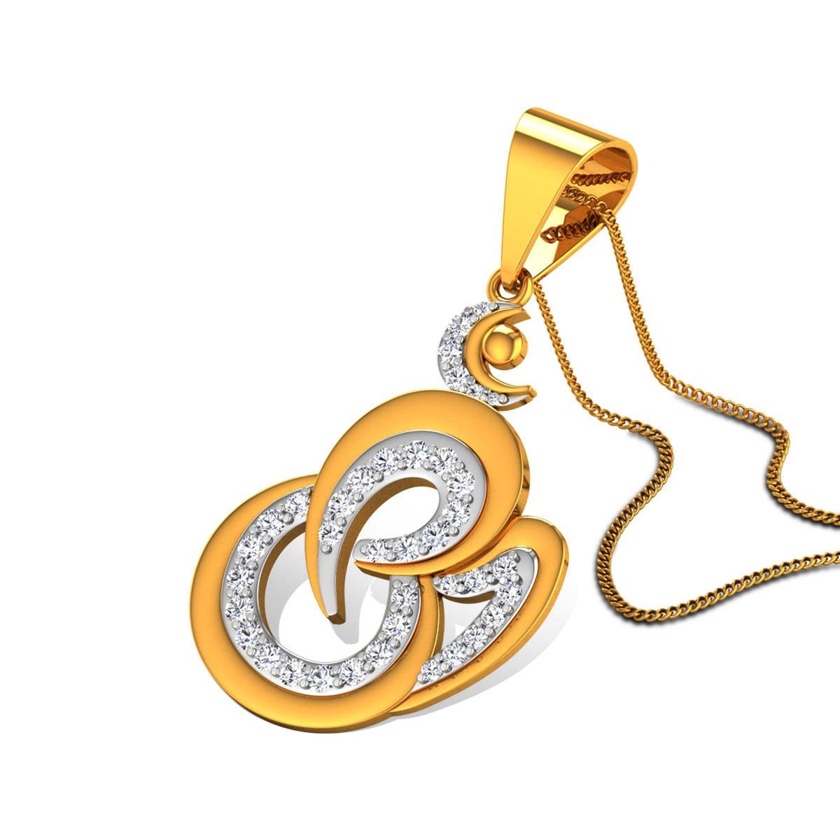 Jayantah Om Diamond Pendant