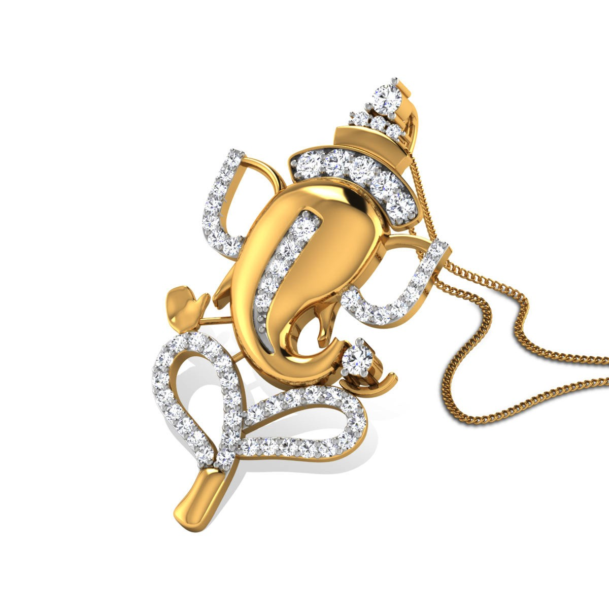 Siddhi Vinayak Diamond Pendant