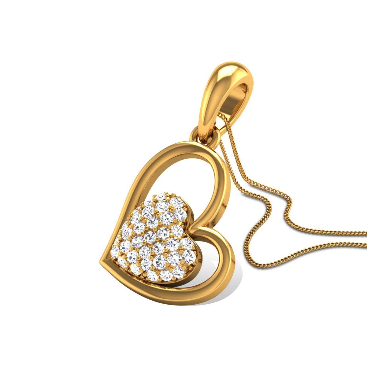 Bimala Diamond Heart Pendant