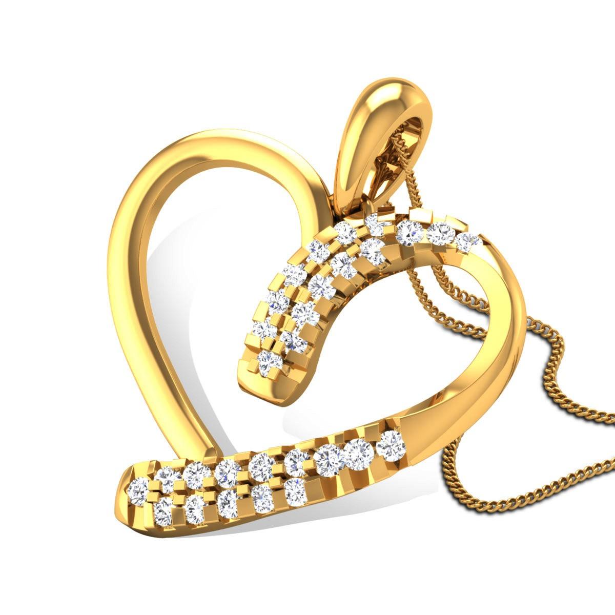 Bhrithi Diamond Heart Pendant