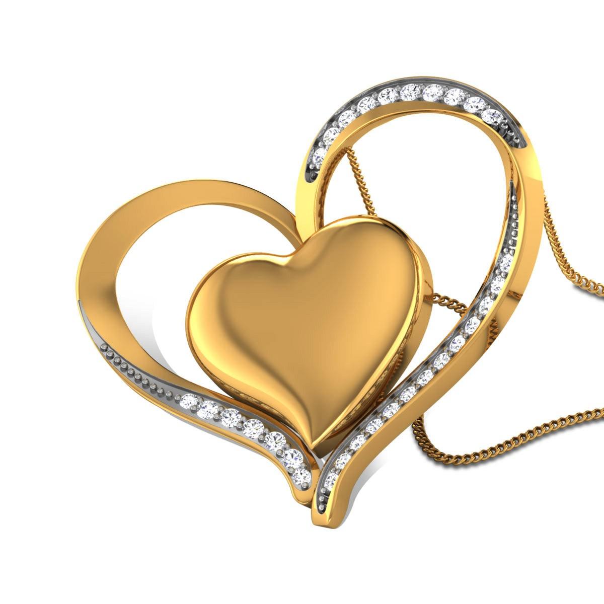 Basima Diamond Dual Heart Pendant