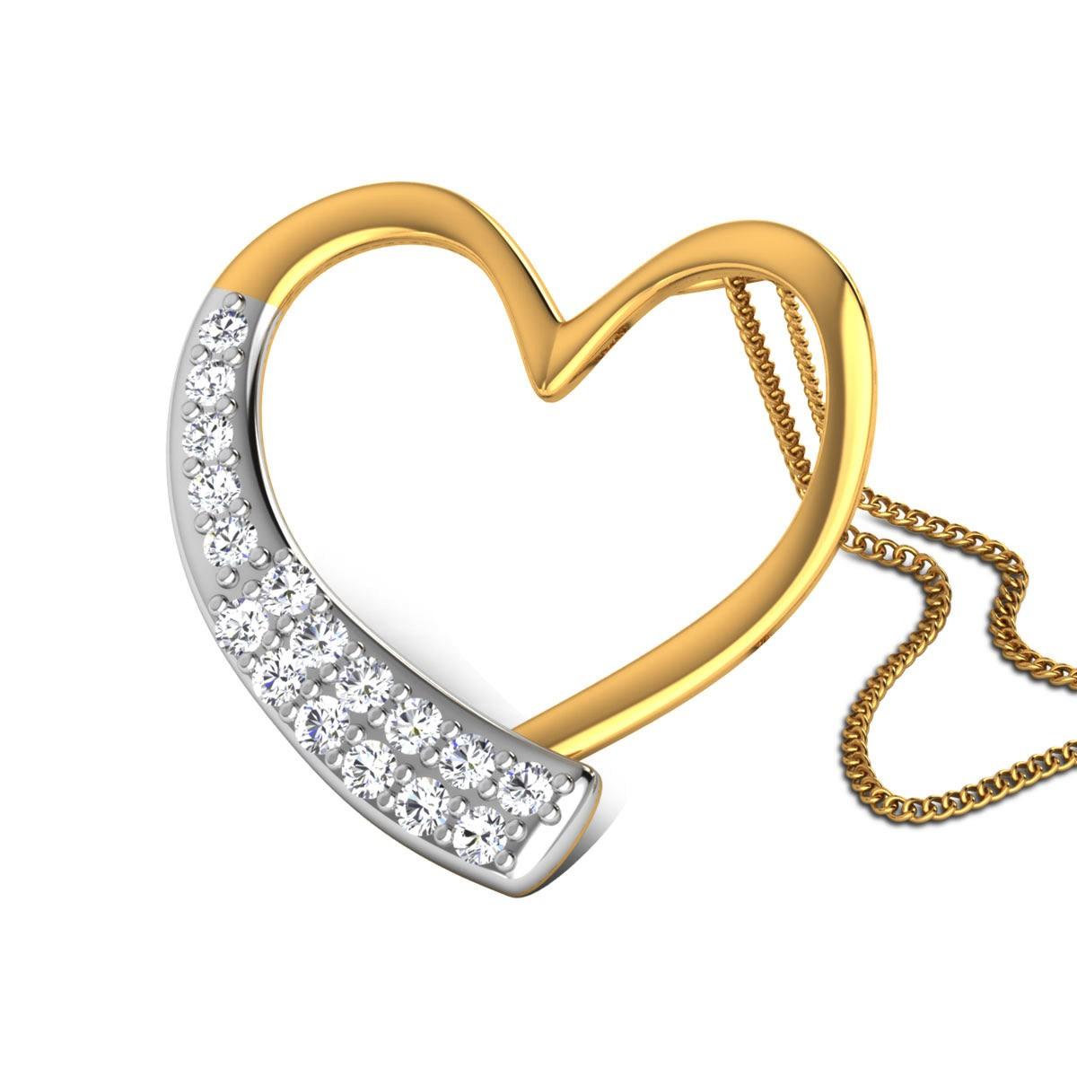 Chanchal Diamond Heart Pendant