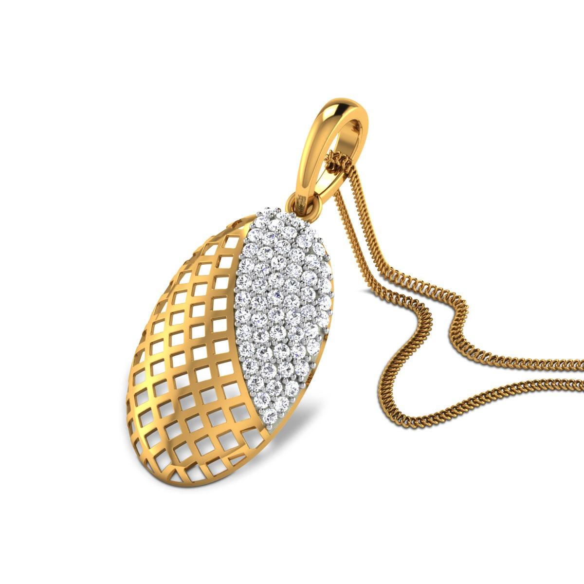 Wesley Lattice Diamond Pendant