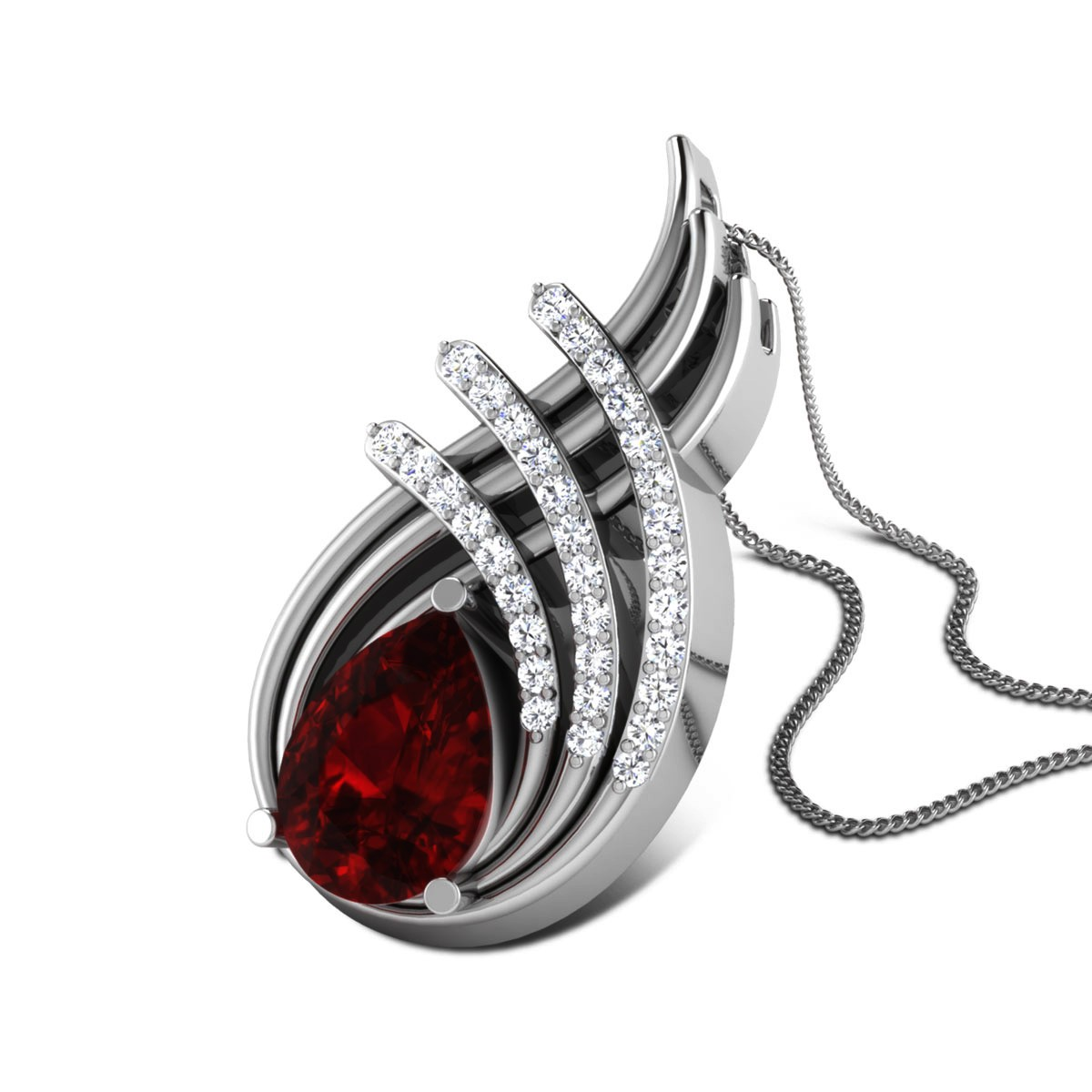 Emmalee Diamond and Ruby Pendant