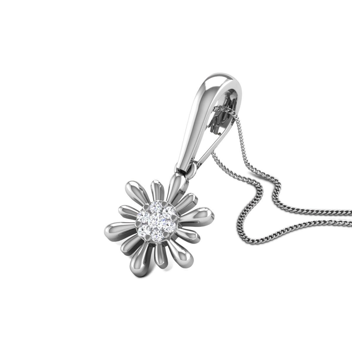 Ayden Diamond Floral Pendant