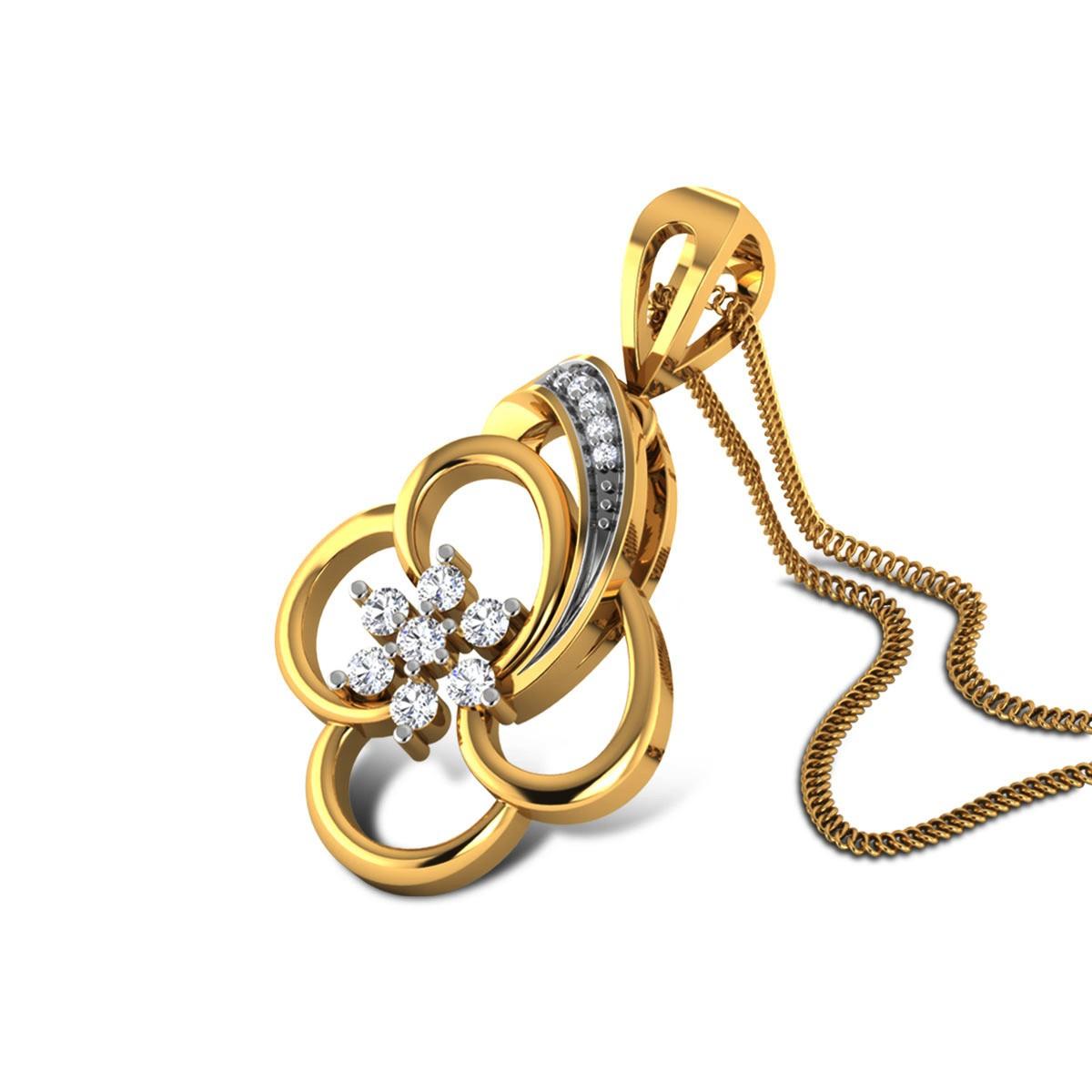 Archer Diamond Floral Pendant