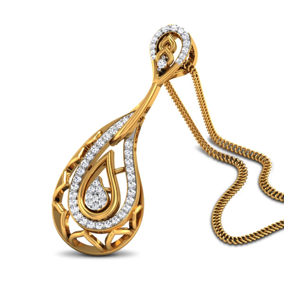 Izobel Diamond Paisley Pendant