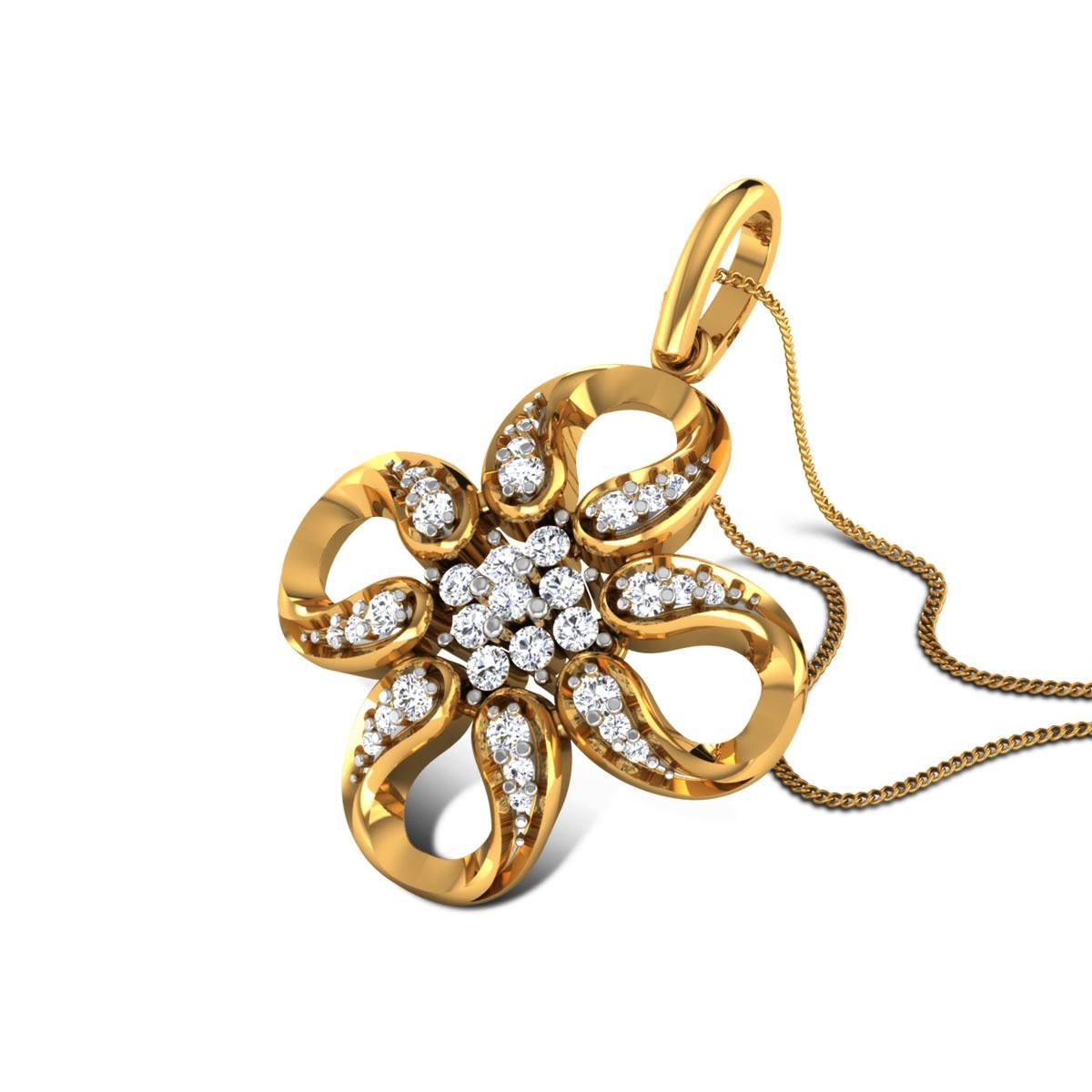 Riker Diamond Floral Pendant