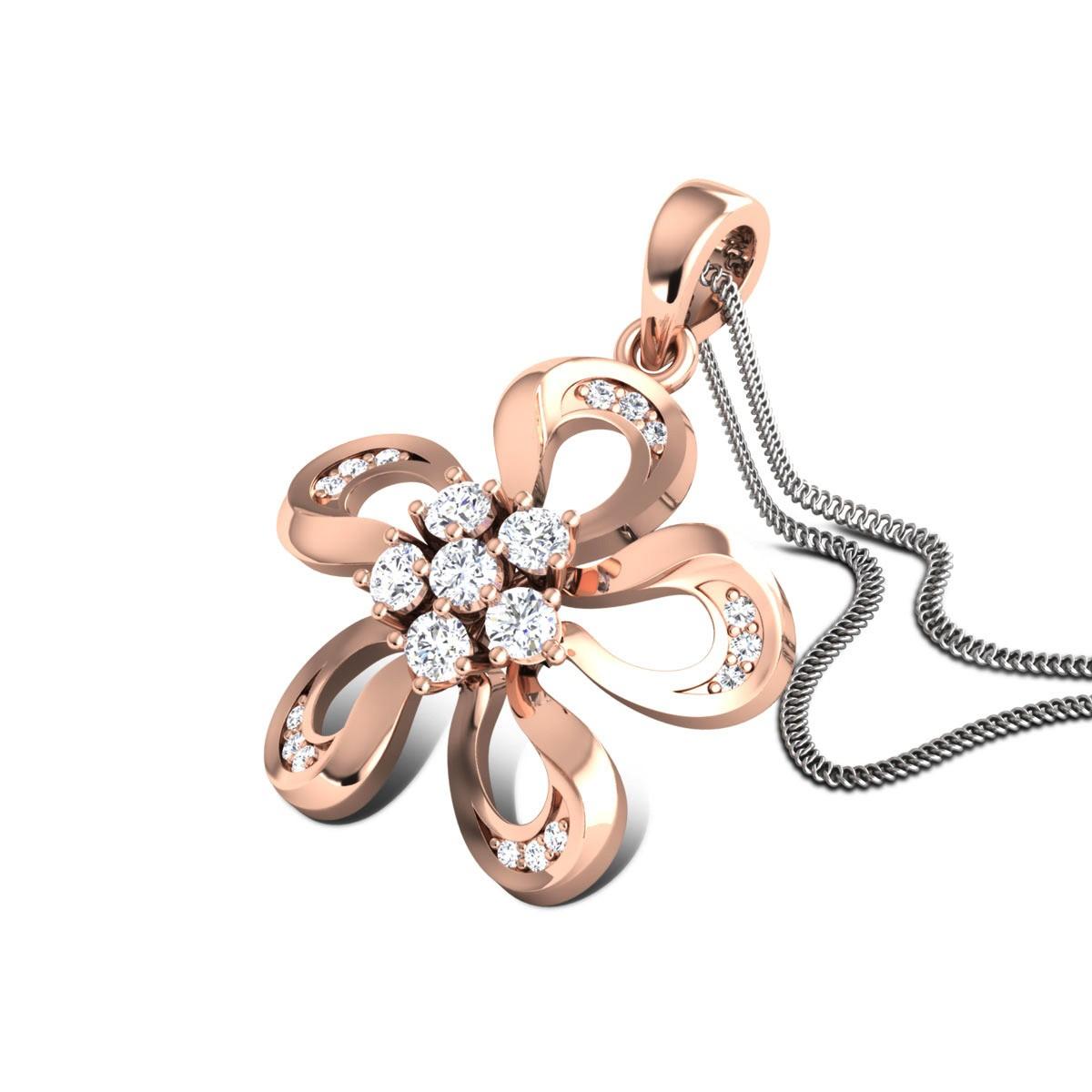 Kamryn Diamond Floral Pendant