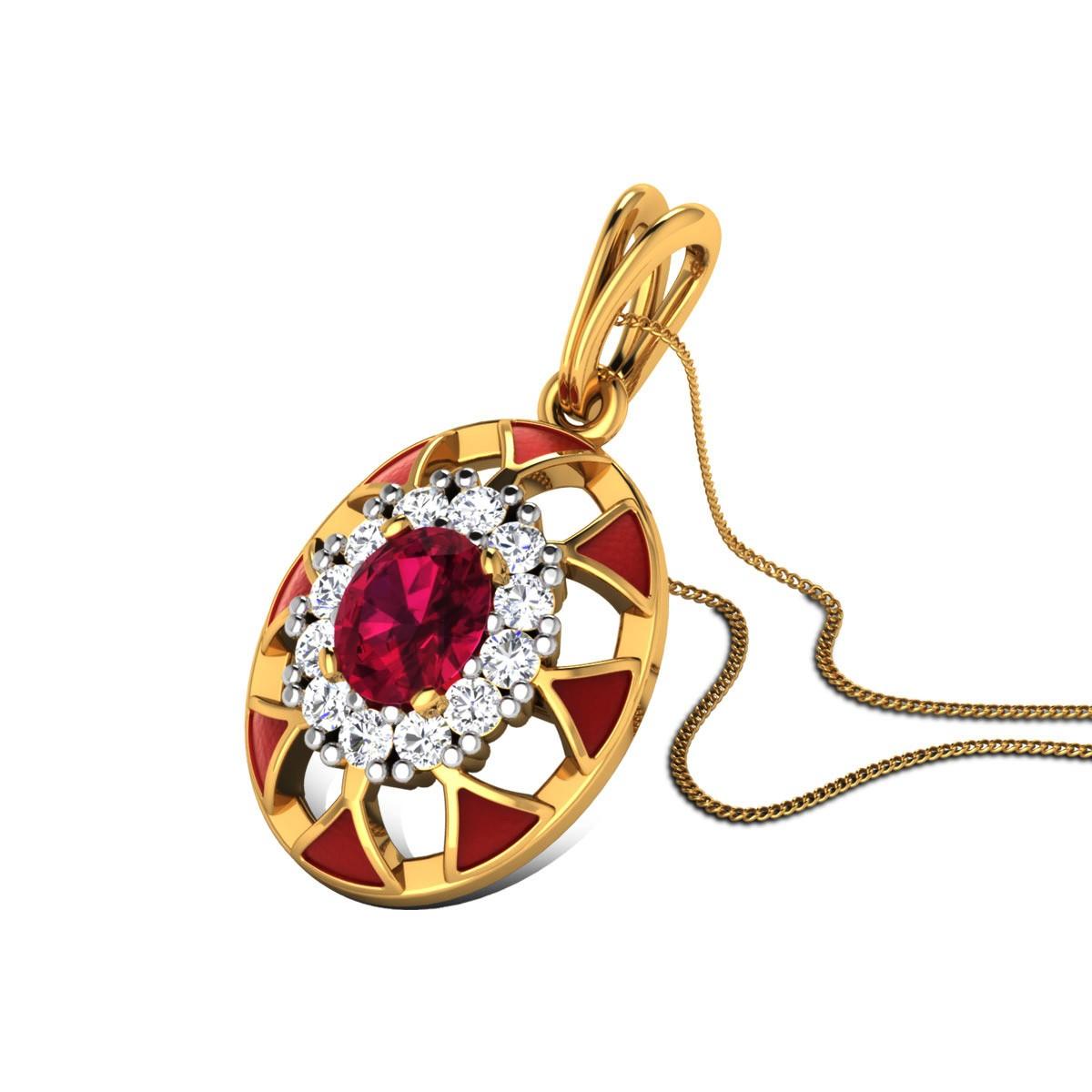 Xiomara Ruby and Diamond Pendant