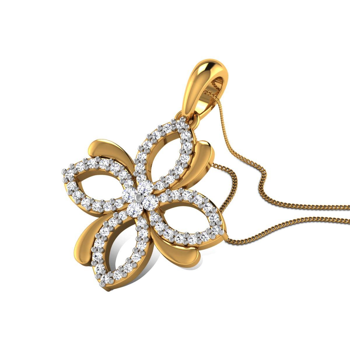 Chakor Diamond Floral Pendant