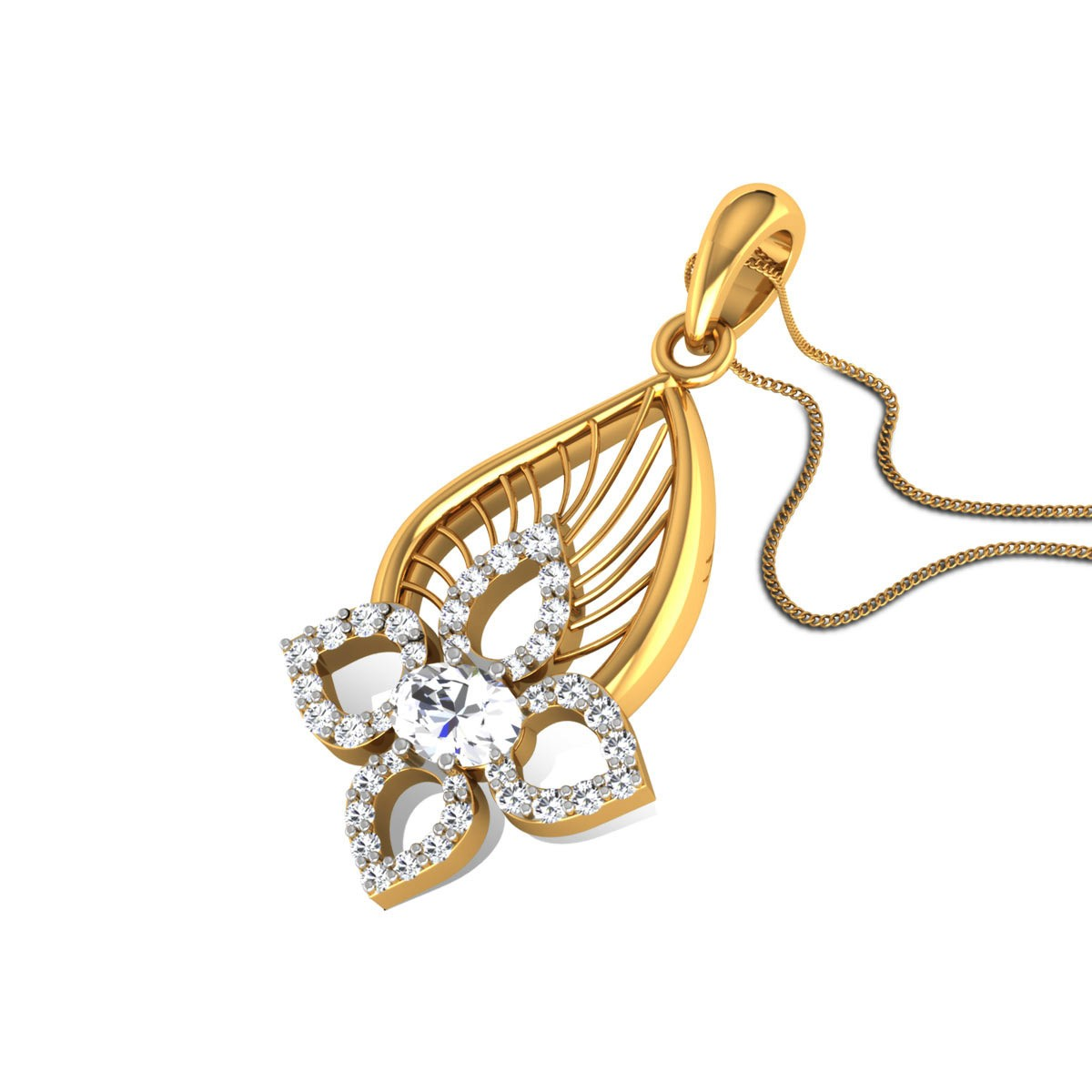 Chaturi Diamond Floral Pendant