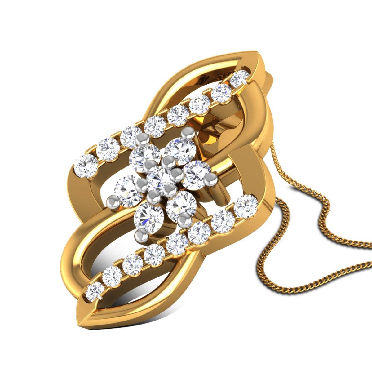 Acira Diamond Floral Pendant