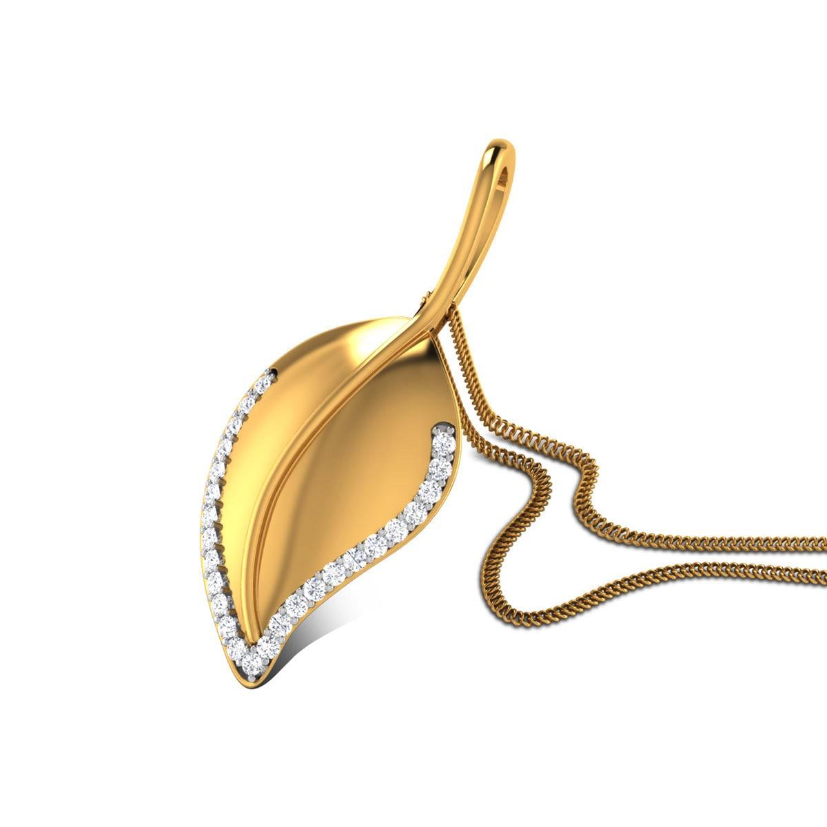 Baara Diamond Leafy Pendant