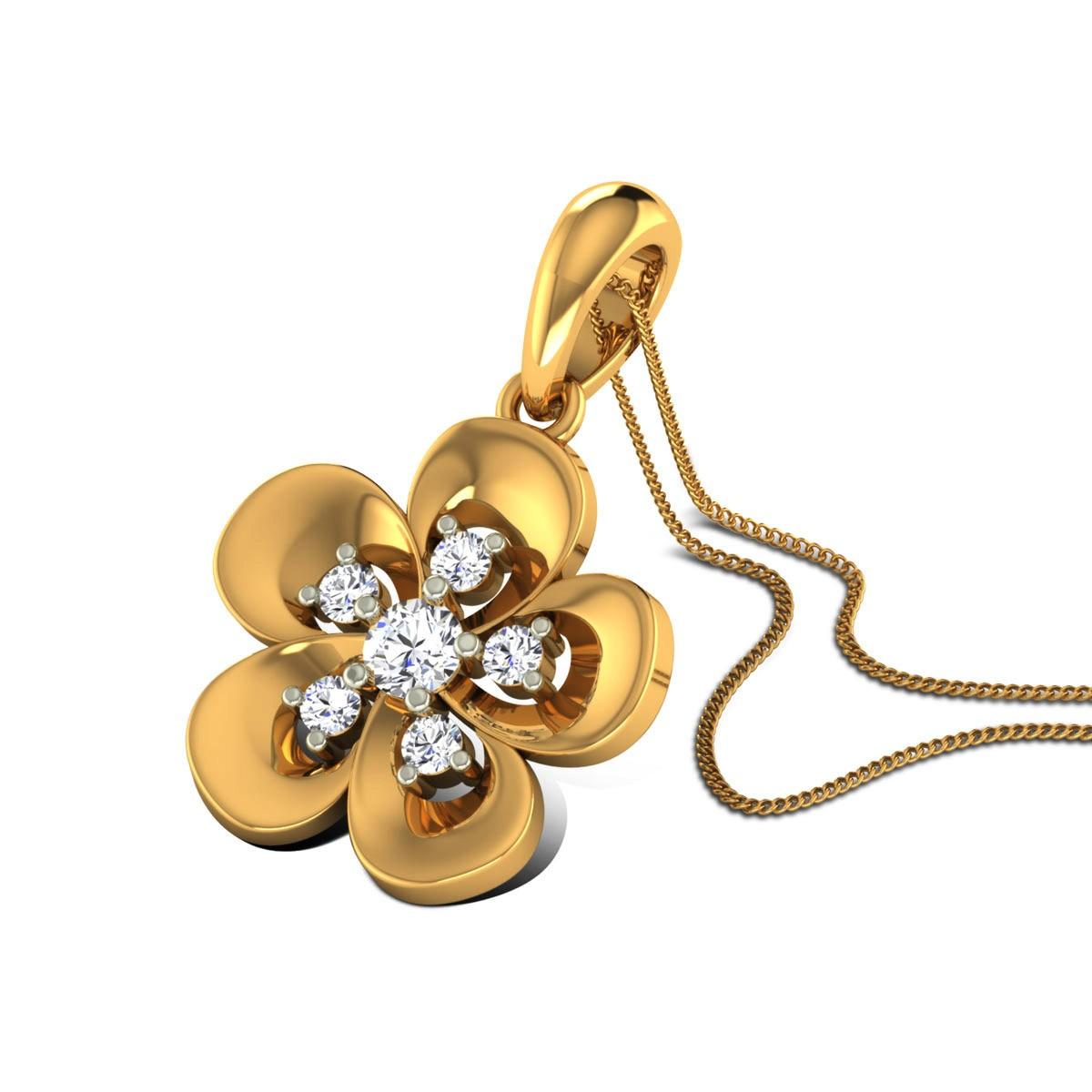 Almas Diamond Floral Pendant