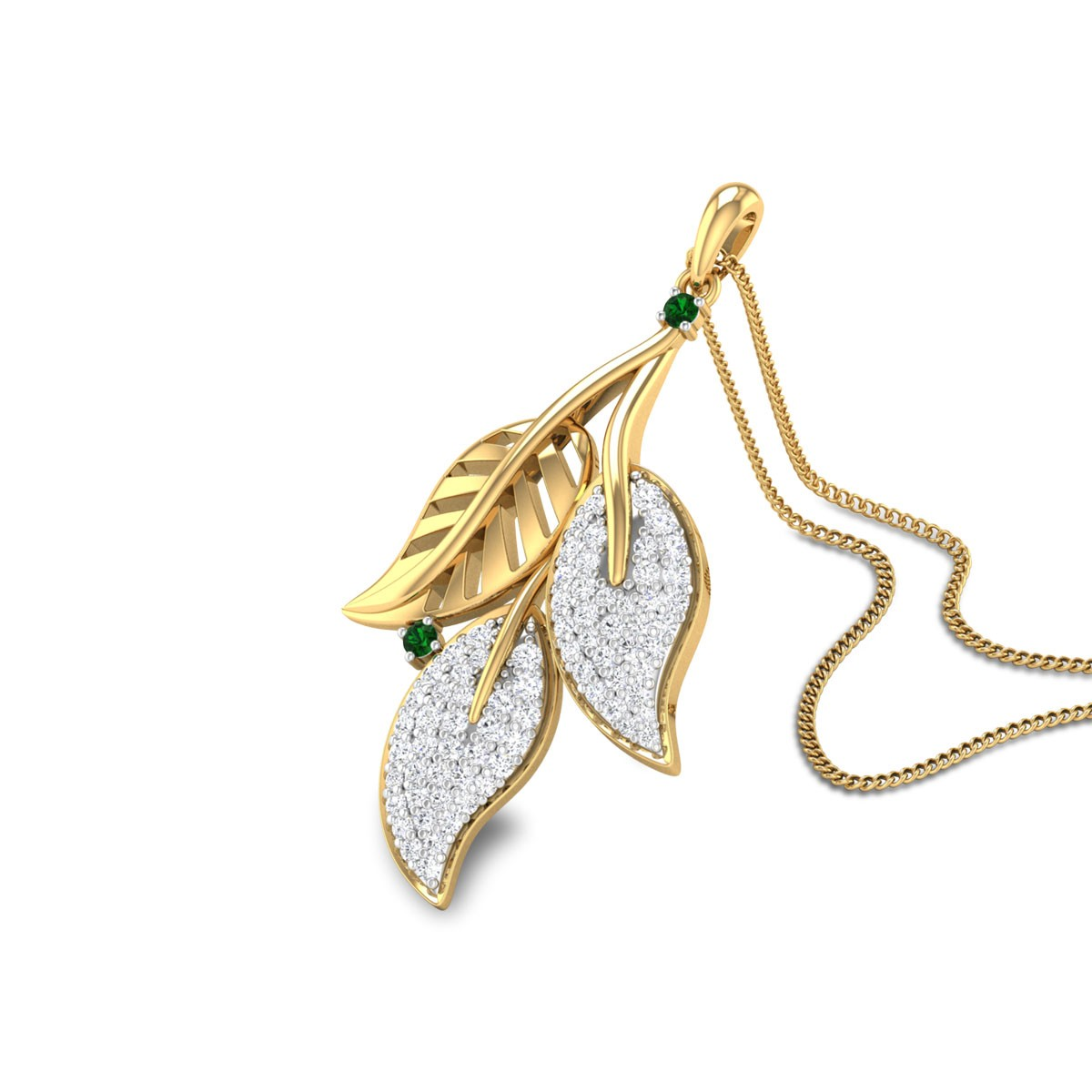Howard Leaf Bunch Diamond Pendant
