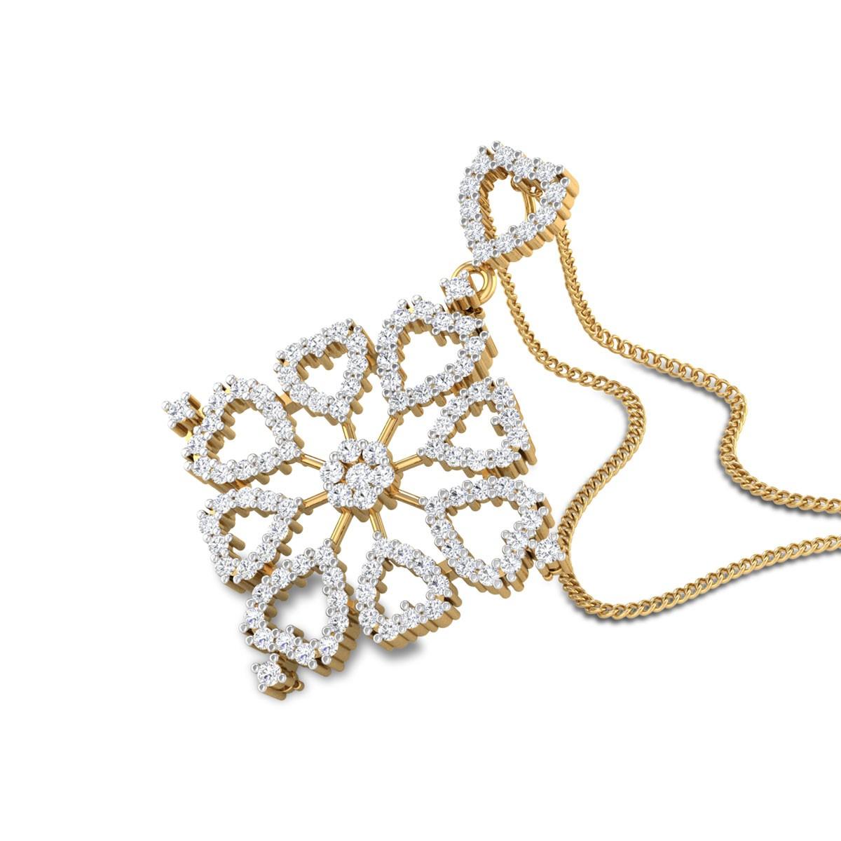 Wyatt Hearty Diamond Pendant