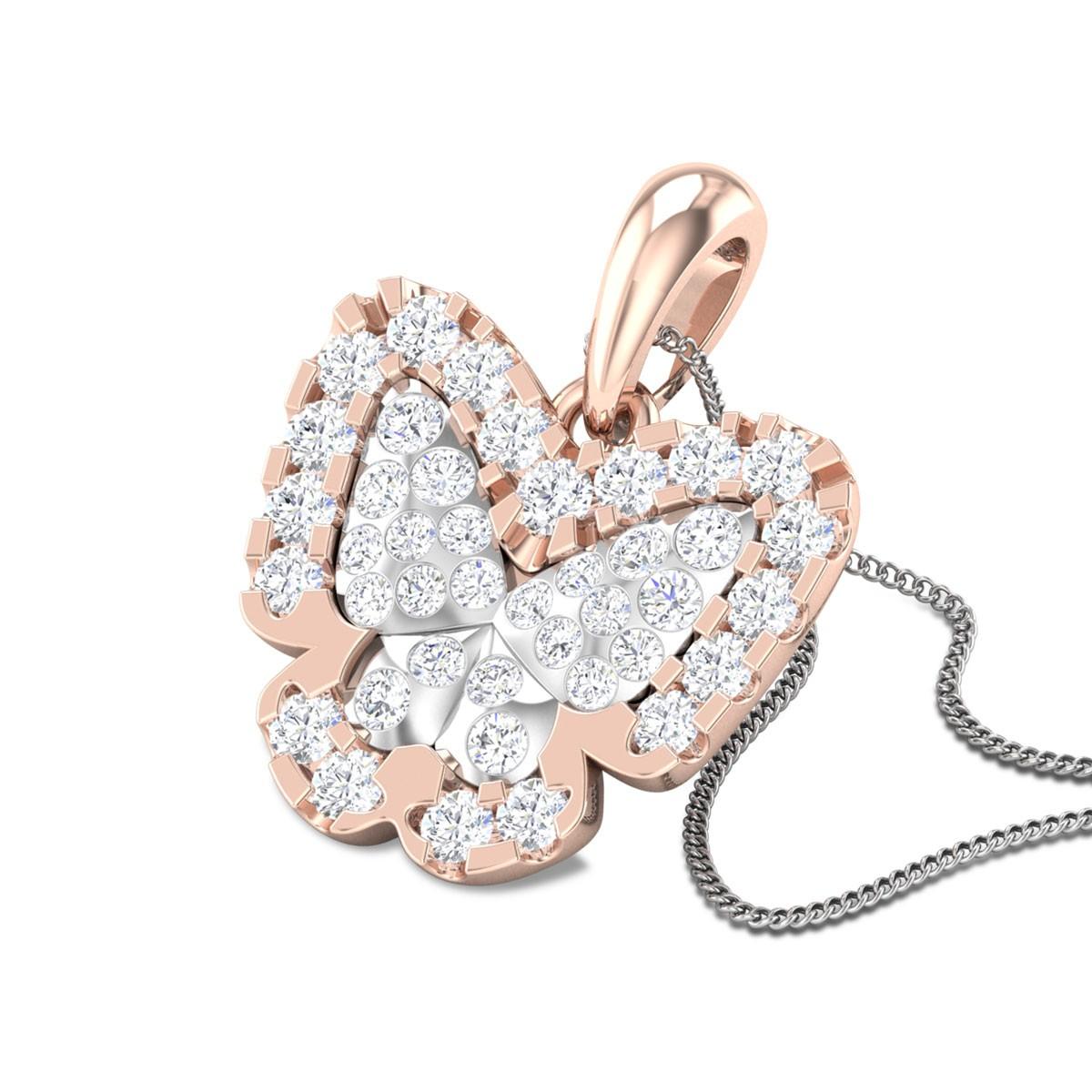 Quisha Butterfly Diamond Pendant