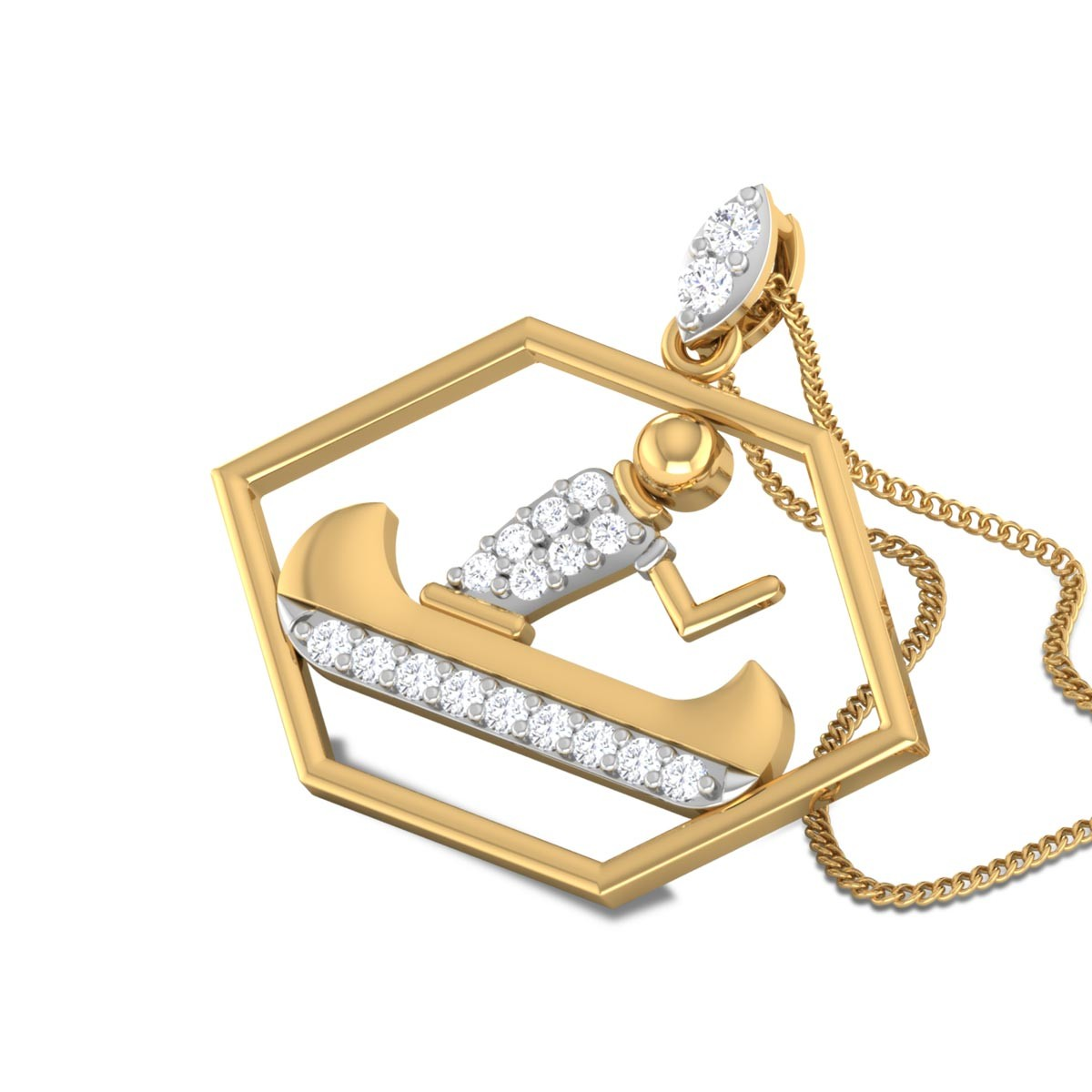 Garnette Diamond Boating Pendant