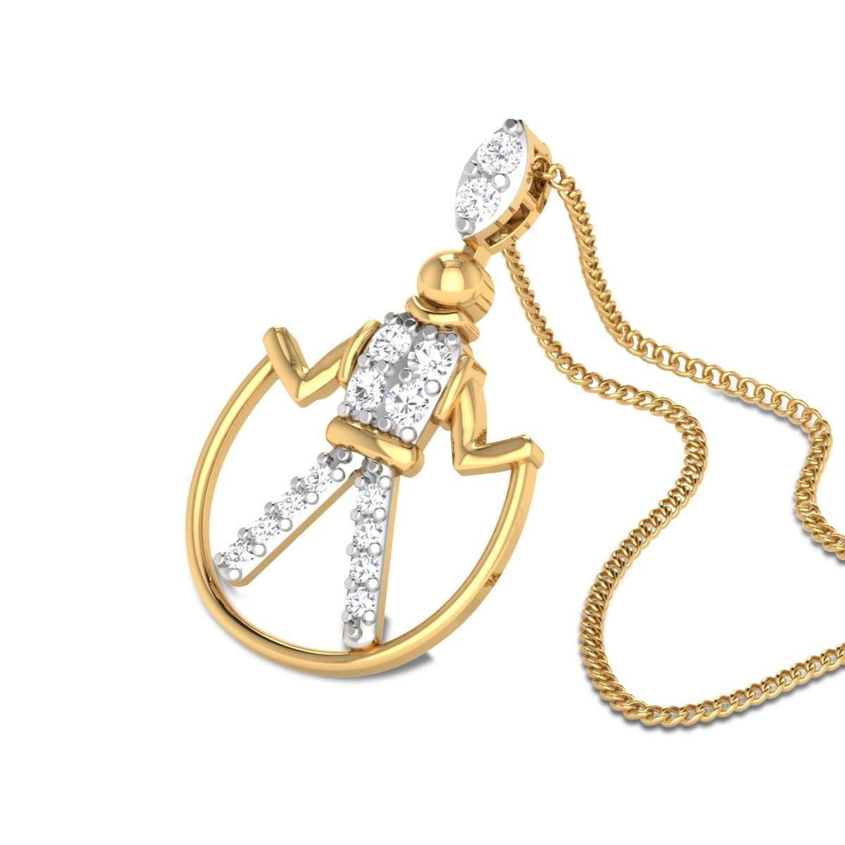Gwendolen Diamond Skipping Pendant