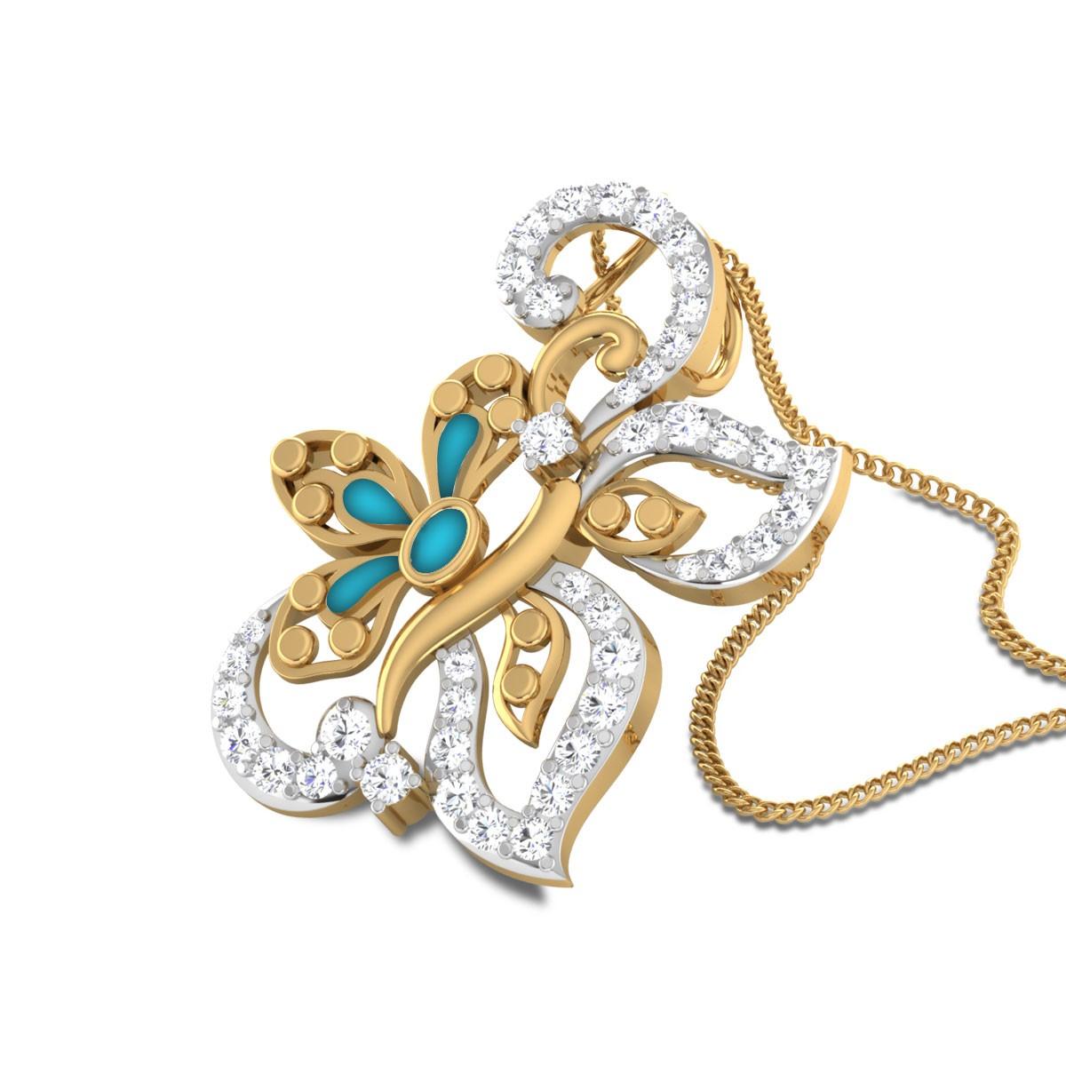 Jianne Butterfly Diamond Pendant