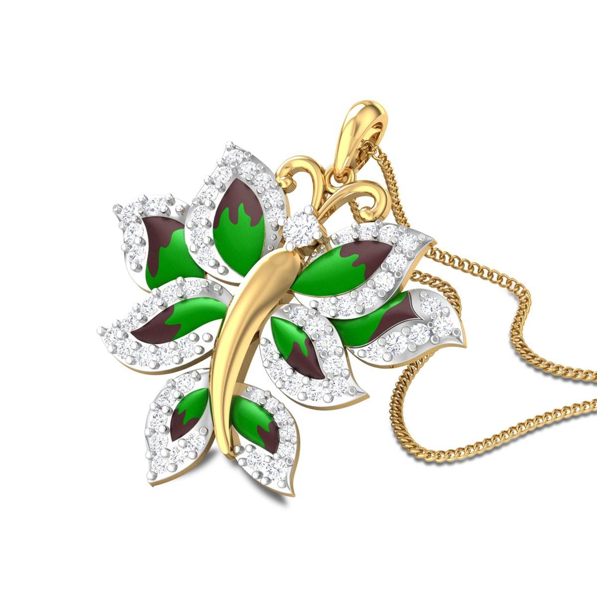 Jeslyn Butterfly Diamond Pendant