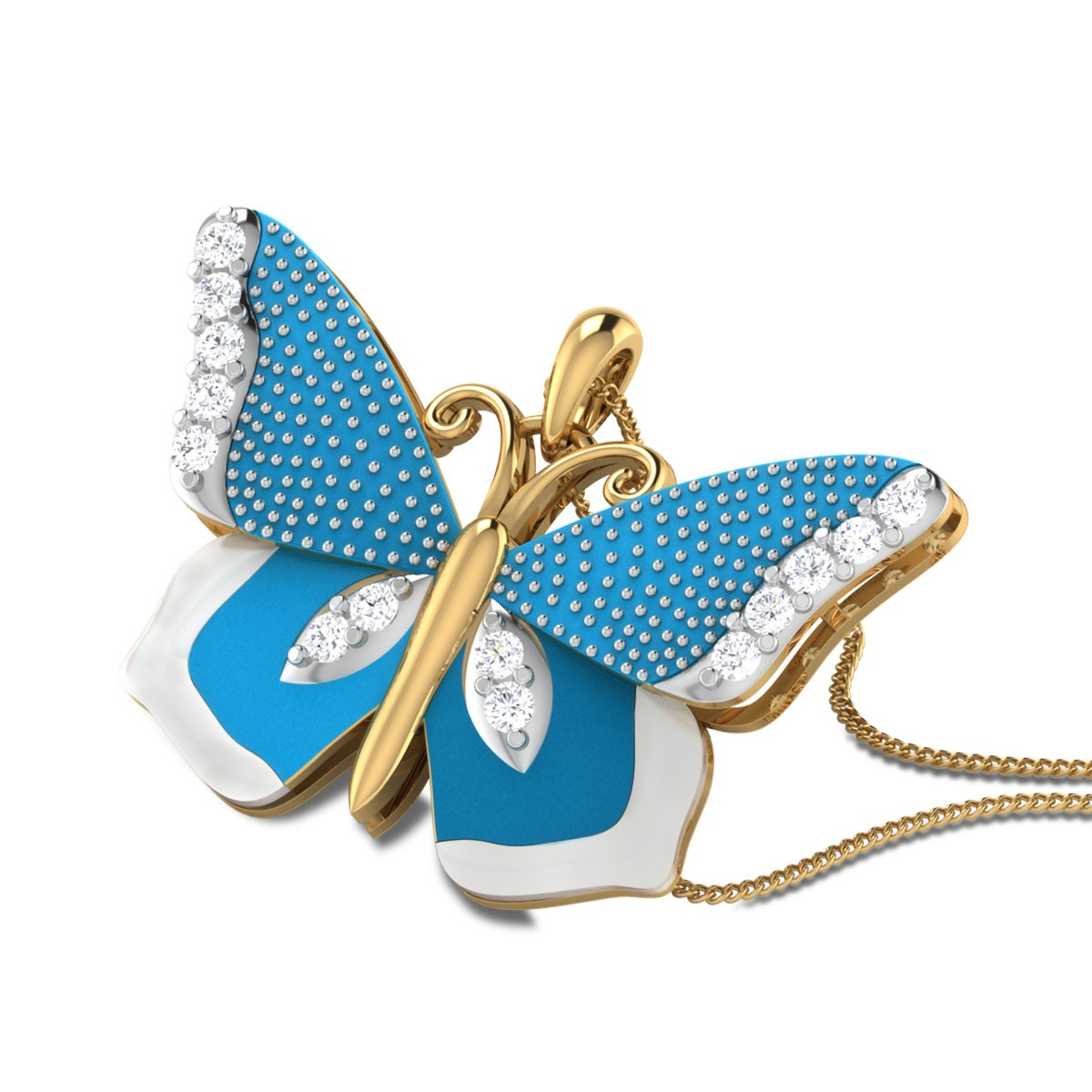 Jerline Butterfly Diamond Pendant