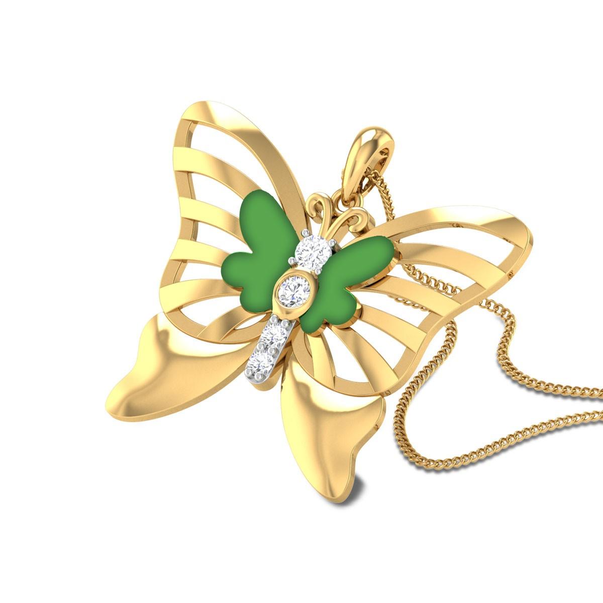 Jennabelle Butterfly Diamond Pendant