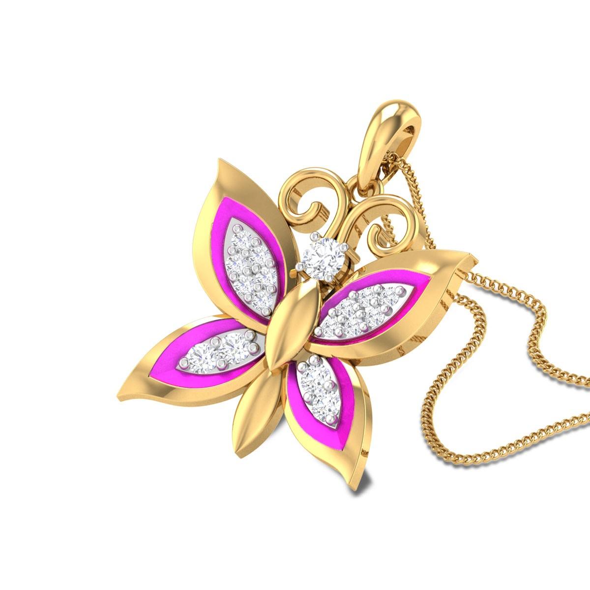 Jenevieve Butterfly Diamond Pendant