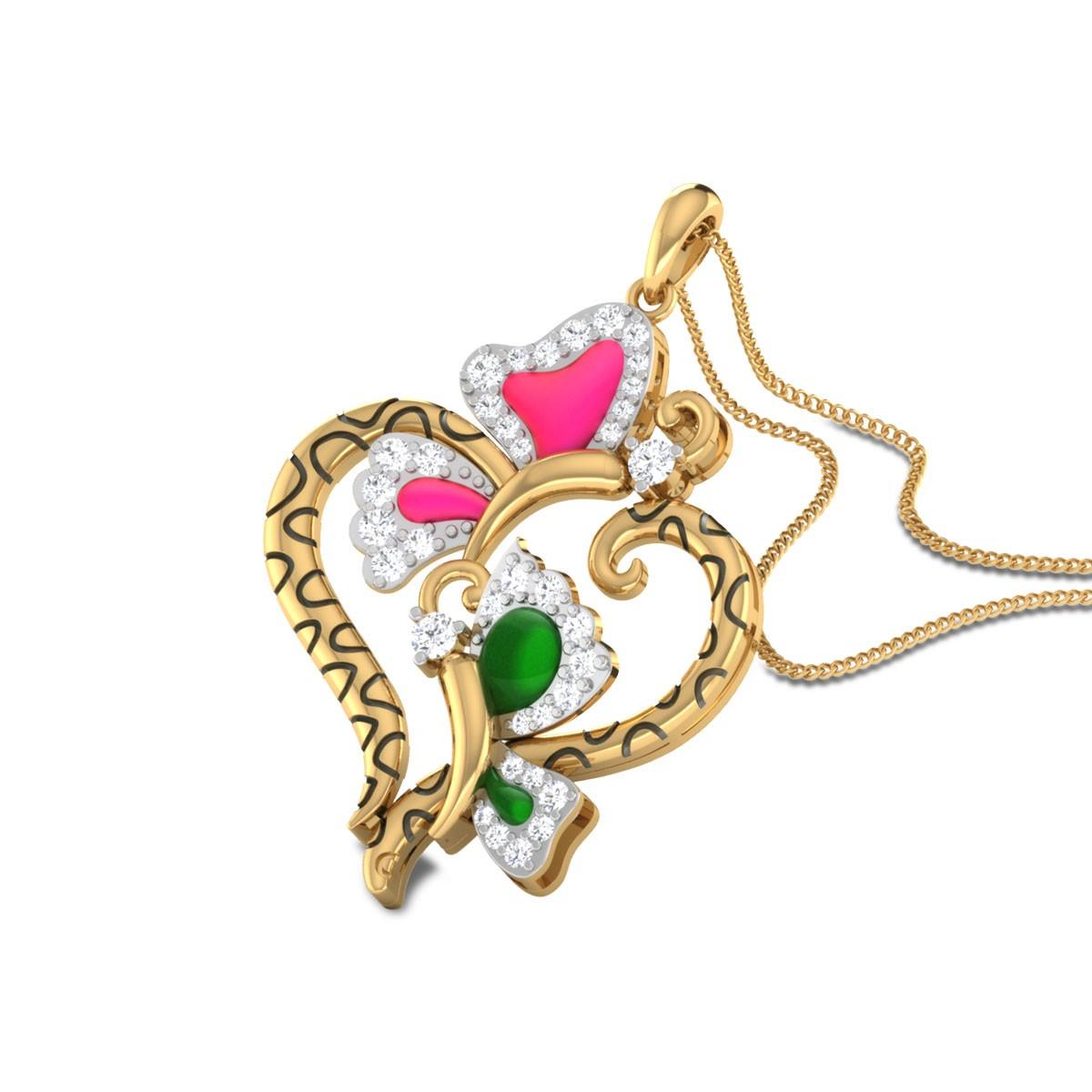 Jehanne Butterfly Diamond Pendant