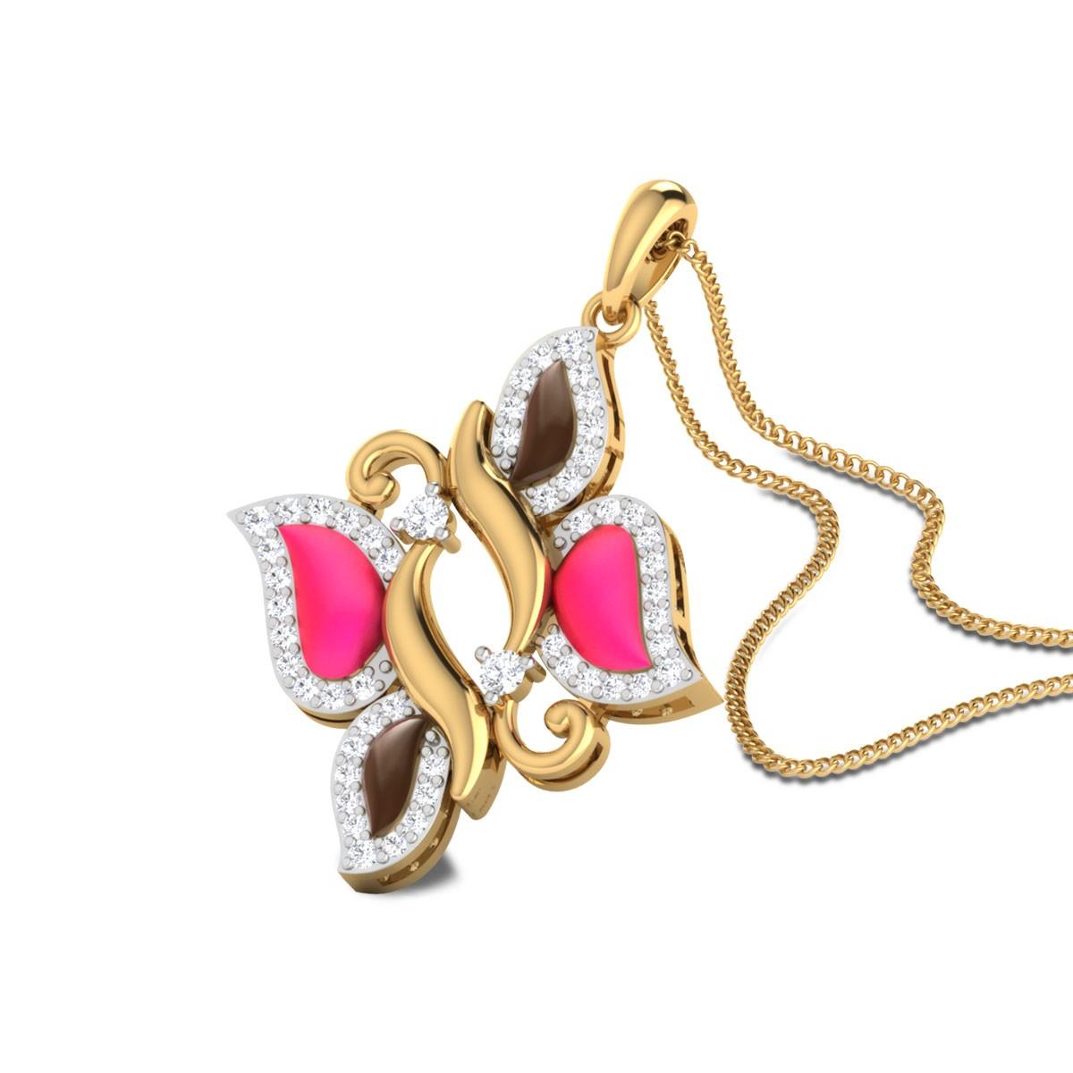 Jeannette Butterfly Diamond Pendant