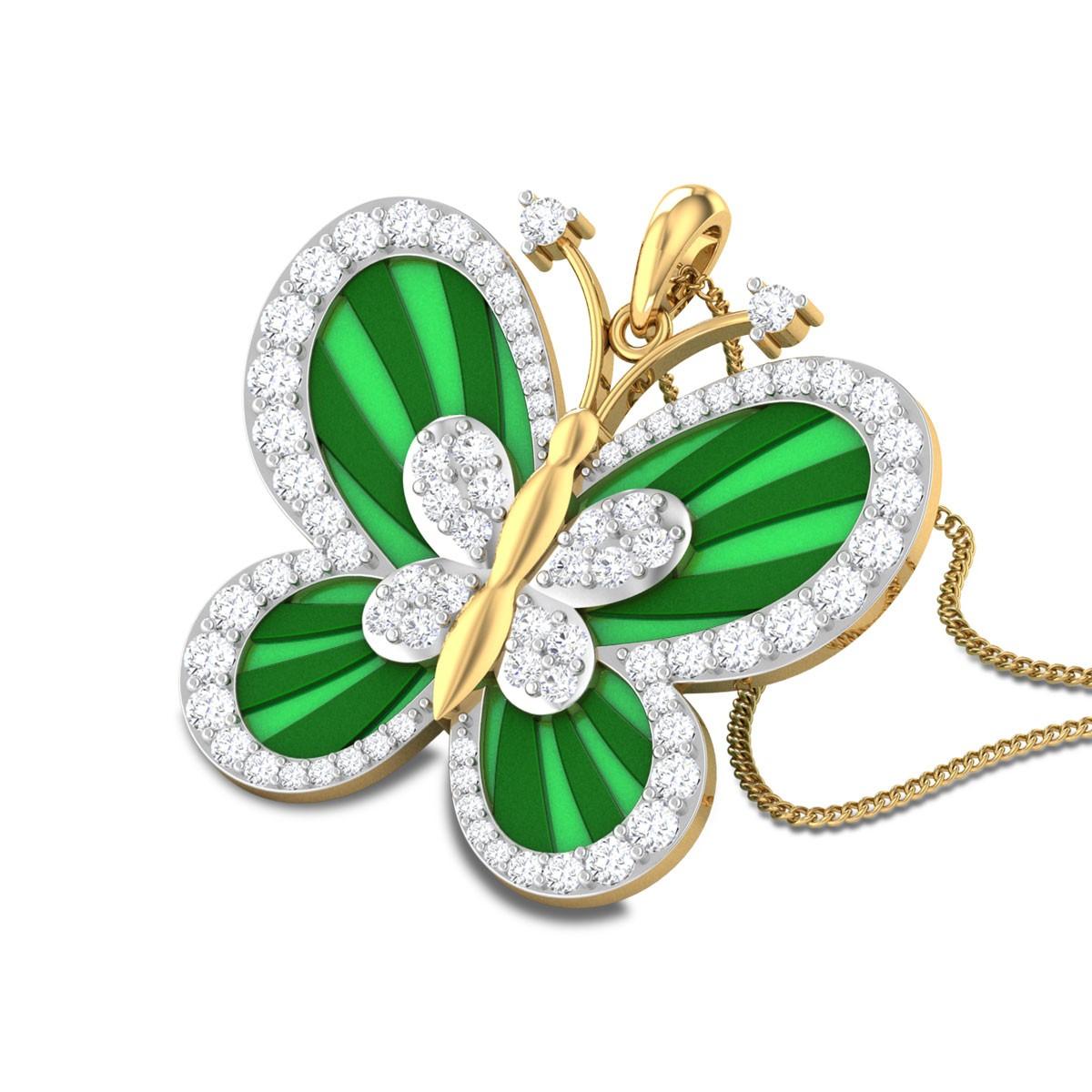 Jayleesa Butterfly Diamond Pendant