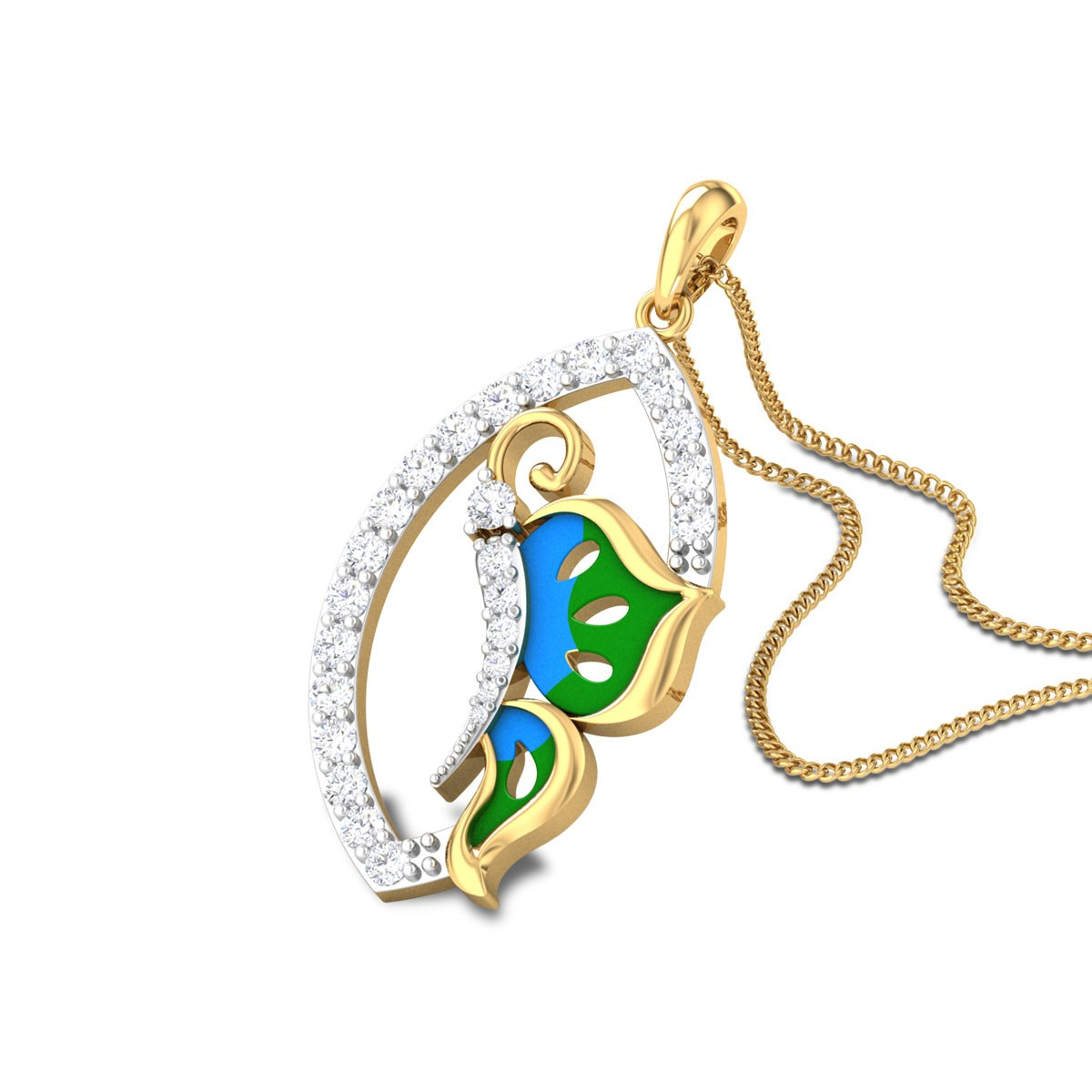 Jaydyn Butterfly Diamond Pendant
