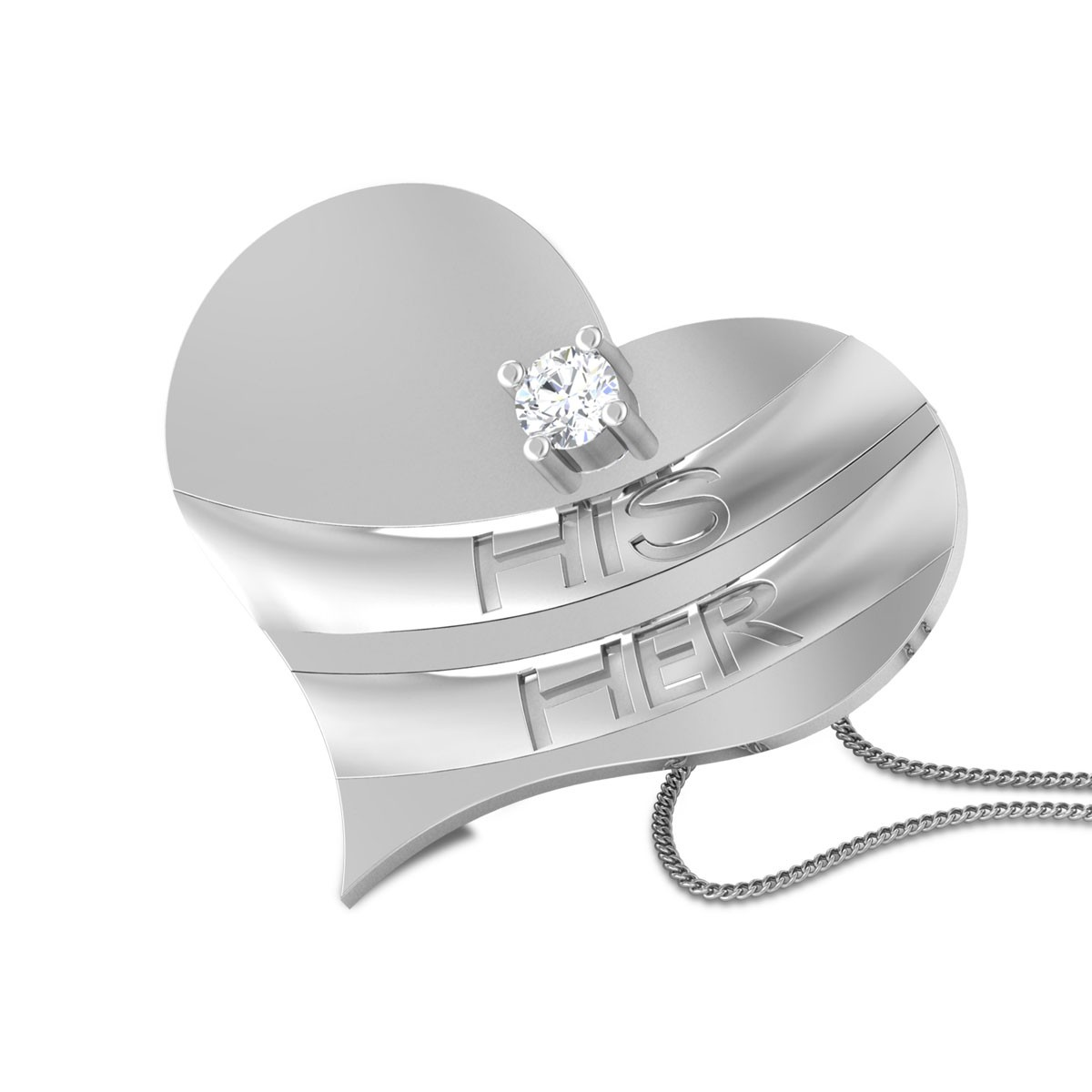 Hardy Romantic Heart Diamond Pendant
