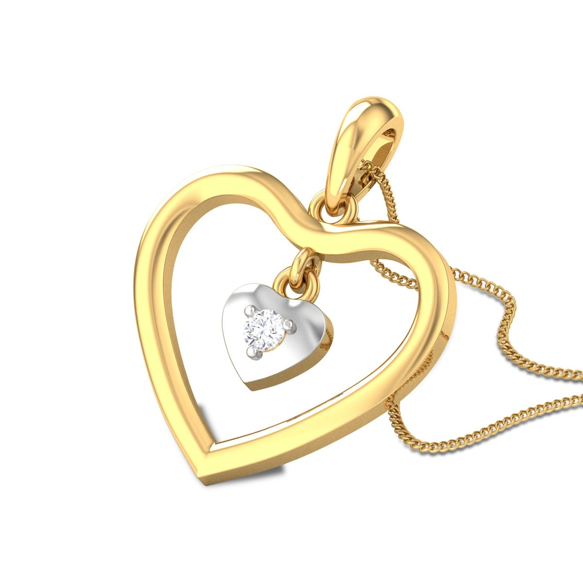 Harpal Twin Heart Diamond Pendant