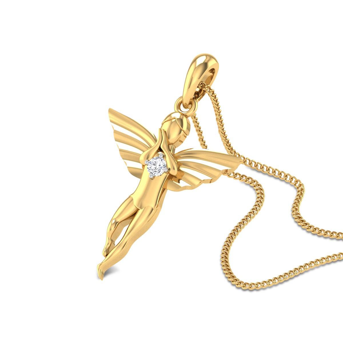 Helmold Angel Diamond Pendant