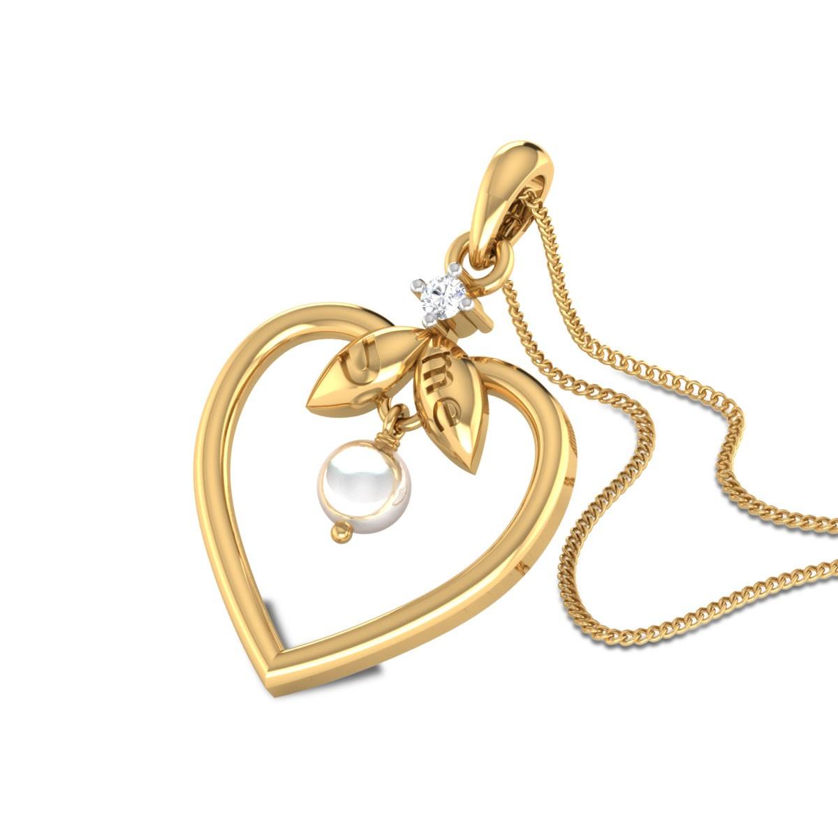 Henson Pearl Drop Diamond Pendant
