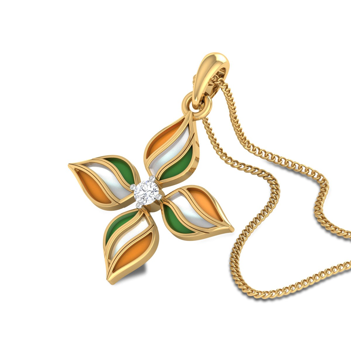 Floret Diamond Pendant