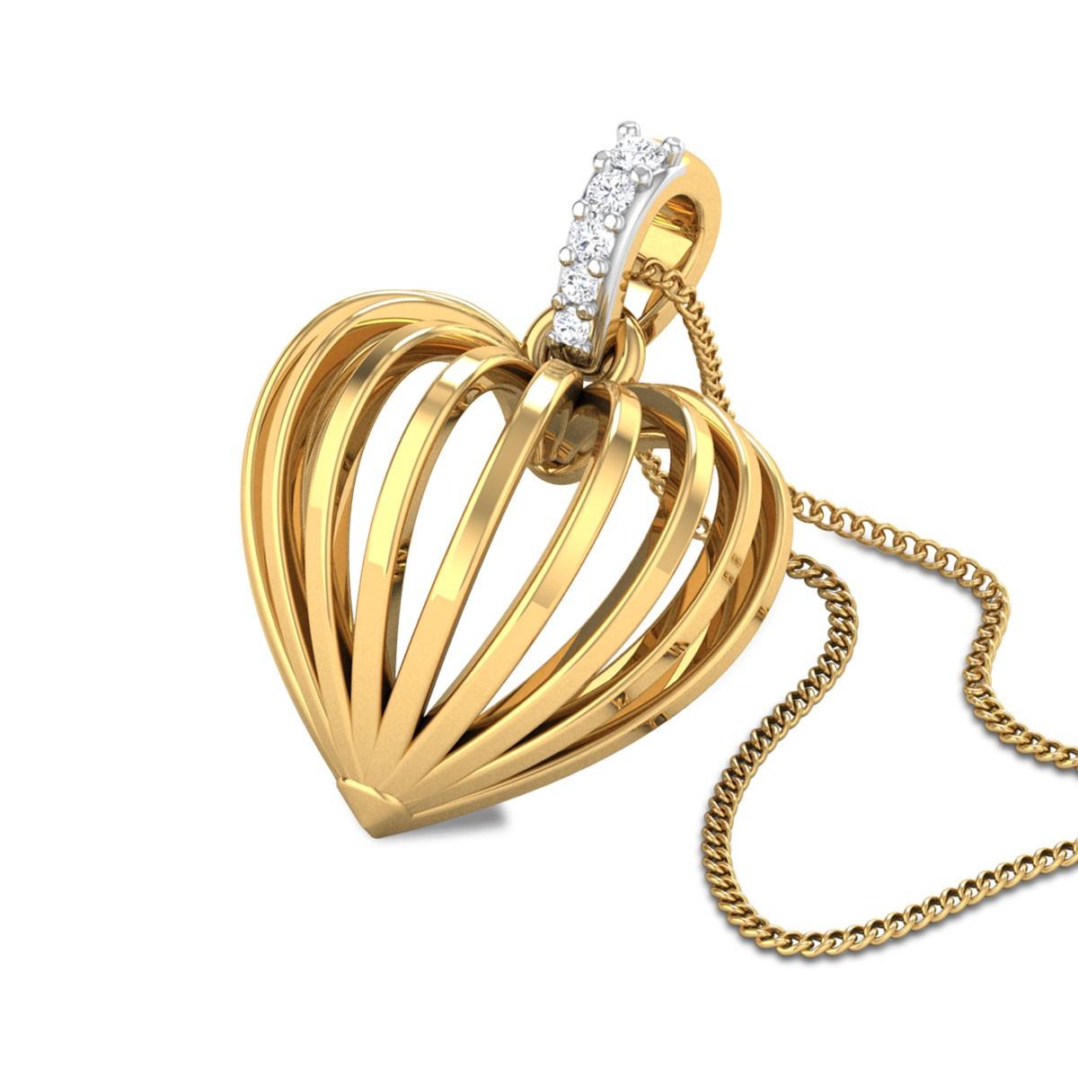 Neda Diamond Heart Pendant