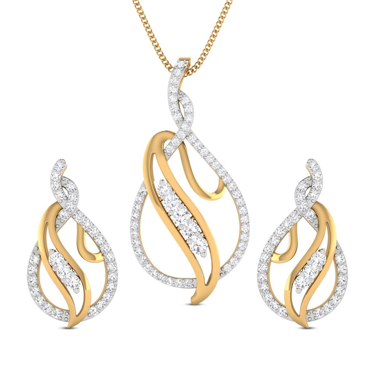 Mehar Diamond Pendant Set