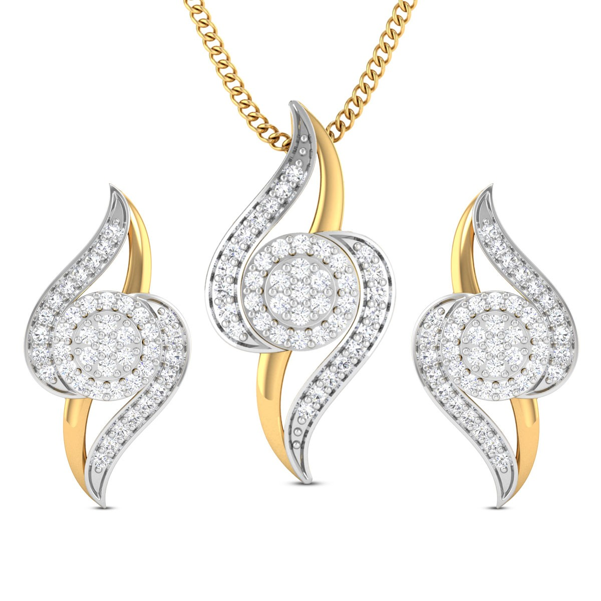 Nira Diamond Pendant Set