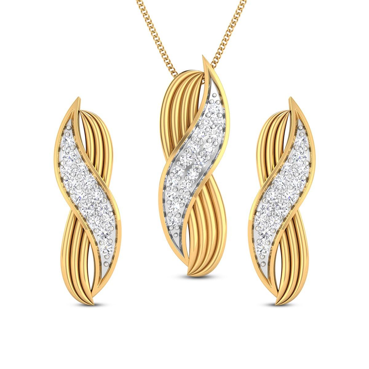 Pari Diamond Pendant Set