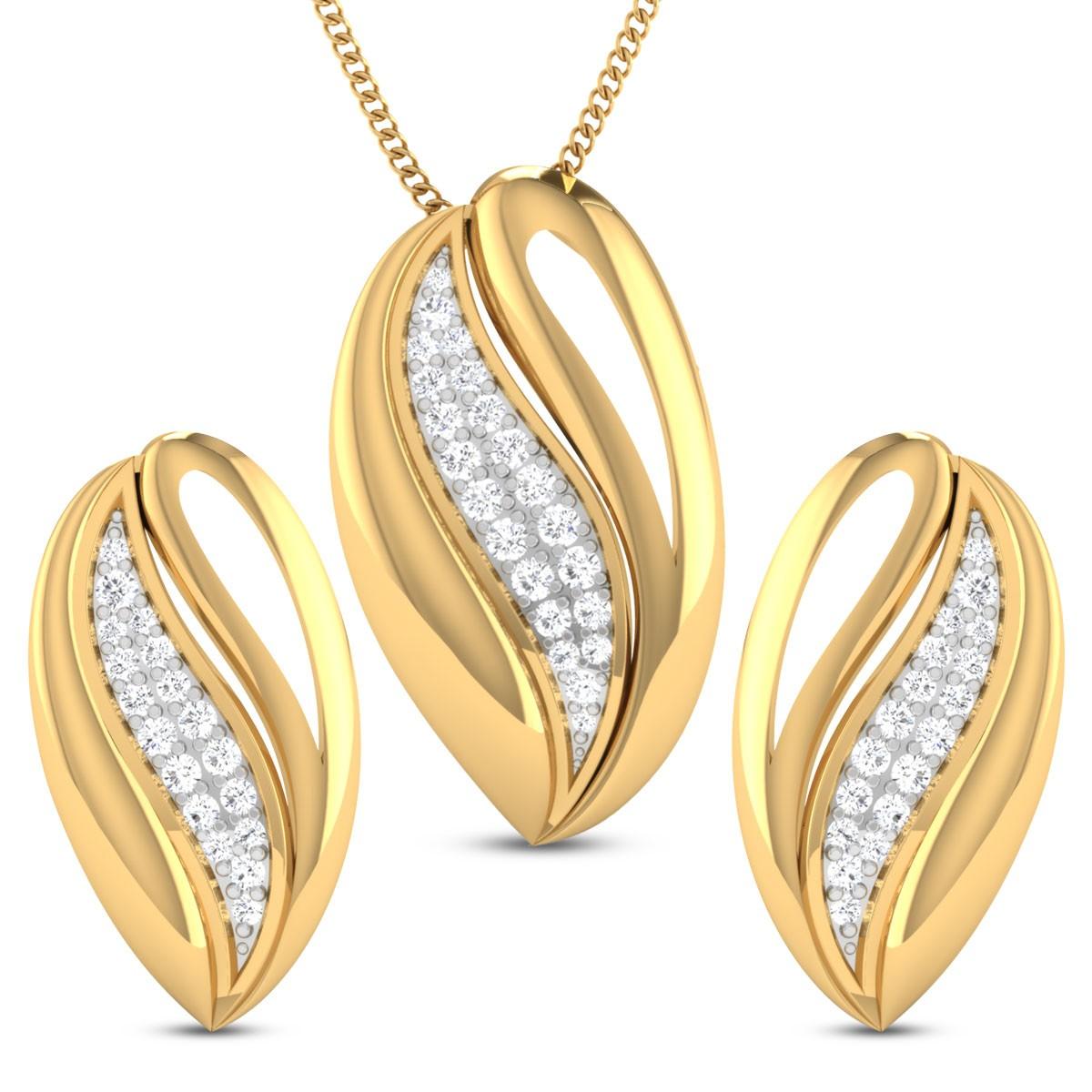Pia Diamond Pendant Set