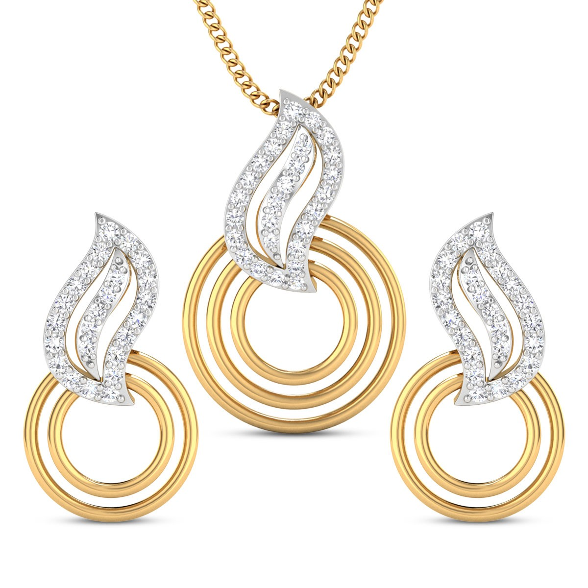 Roshni Diamond Pendant Set